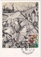 L\'Histoire De Cesar - La Traversée Du Rubicon - Musée De\'Histoire De Berne - Stamp Merchtem 67 - & Maximum Card - Merchtem
