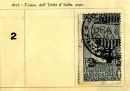 1913 Regno Unità D'Italia 2 Su 15c Usato. - Usati