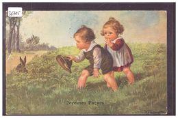 JOYEUSES PAQUES - ENFANTS - LAPIN - PAR FIALKOWSKA - B ( PLI D'ANGLE ) - Fialkowska, Wally