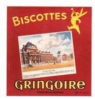 Buvard Biscottes Gringoire Pithiviers-en-Gatinais L'école Militaire - Format : 19x18 Cm - Biscottes
