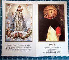 I PADRI DOMENICANI AUGURANO UN FELICISSIMO ANNO CALENDARIO TASCABILE 1976 - Calendriers