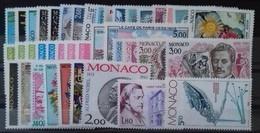 MONACO ANNEE COMPLETE 1983 COTE 119 € NEUFS ** MNH N°1359 à 1403 Soit 45 Timbres. TB - Monaco