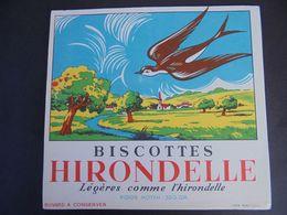 BUVARD - BISCOTTES : HIRONDELLE - Papel Secante
