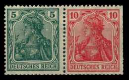 D-REICH ZUSAMMENDRUCK Nr W7IIaa Postfrisch WAAGR PAAR X6D7D6E - Zusammendrucke