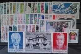 MONACO ANNEE COMPLETE 1987 COTE 132 € NEUFS ** MNH N°1562 à 1613 Soit 52 Timbres. TB - Monaco