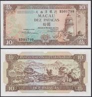 Macau - Macao 10 Petacas Banknote 10-5-1984 Pick 59e UNC  (13495 - Bankbiljetten
