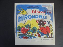 BUVARD - BISCOTTES HIRONDELLE  : LA GRENOUILLE ET LE BOEUF - Non Classés