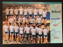 Bodysol BUSTOR Team Card - 2004 - Carte / Card - Cyclists - Cyclisme - Ciclismo -wielrennen - Wielrennen