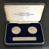Australia 1970 Captain Cook 50 Cent Proof Set VIP Presentation Box Rare Set - Sets Sin Usar &  Sets De Prueba
