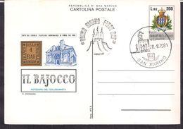 San Marino - Lettre - FDC -  Il Bajocco - Notiziario Del Collzionista - 1981 - Circulee - Cygnus - Lettres & Documents