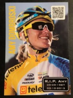 Amy Dombroski - Telenet Fidea - 2013 - Card / Carte - Cyclists - Cyclisme - Ciclismo -wielrennen - Cycling