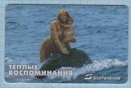 UKRAINE / 011 /  Phonecard Ukrtelecom / Phone Card / Good Memories Monument To The Mermaid With A Child. Mishor. 07/03 - Ukraine