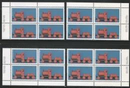 CANADA 1979 SCOTT 839** 4 CORNER BLOCKS CAT VALUE US $7.00 - 1952-.... Reign Of Elizabeth II