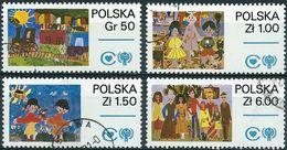Poland 1979 - Mi 2603/06 - YT 2427/30 ( Year Of The Childs : Draivings ) Complete Set - 1944-.... République