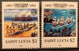 ST. LUCIA - MNH**   - 1992 - # 1075/1076 - St.Lucia (1979-...)