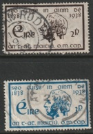 Ireland Sc 101-102 Set Used - 1937-1949 Éire