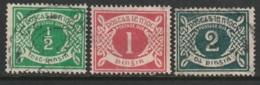 Ireland Sc J1-J3 Postage Due Partial Set Used - Segnatasse