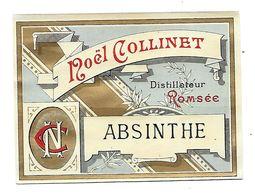 Etiquette ABSINTHE - Noel Collinet Distillateur à Romsée ( Belgique ) An 1900 - - Etiquettes