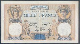 1000 Francs 20/06/1940 SPL- !!! - 1 000 F 1927-1940 ''Cérès E Mercure''