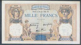 1000 Francs 20/06/1940 SPL- !!! - 1871-1952 Antichi Franchi Circolanti Nel XX Secolo