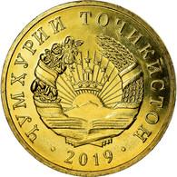 Monnaie, Tajikistan, 2 Dirams, 2019, St. Petersburg, SPL, Brass Plated Steel - Tadjikistan