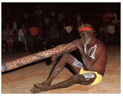 (A 16) Australia - Traditional Didgerido Playing At Corroboree - Aborigenes