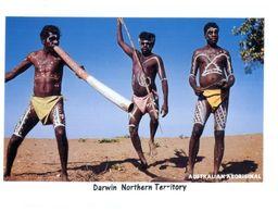 (A 16) Australia - Traditional Didgerido Playing & Warrior At Corroboree - Aborigenes
