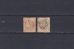 FRANCE N° 38 & 38b = 2 TIMBRES OBLITERES  DE 1870      Cote : 24 € - 1870 Siège De Paris