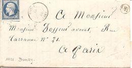 NIEVRE (56) LAC (écrite à COULOUTRE ) OBLI à DONZY  PC 1121 Sur NAP - 1849-1876: Période Classique