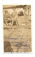 Photographie , SAINT MALO , 1922 ,plage , 105 X 65 Mm - Lieux