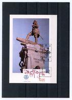 GRANDS NAVIGATEURS - STATUE DE MAGELLAN EN TERRE DE FEU - FDC ESPAGNE 1988 - Explorers