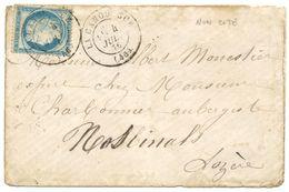 LOZERE ENV 1876 LA CANOURGUE T17 SUR CERES FIN DU GC LETTRE DEFRAICHIE - 1849-1876: Période Classique