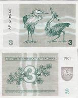Lithuania 1991 - 3 Talonas - Pick 33b UNC - Litauen