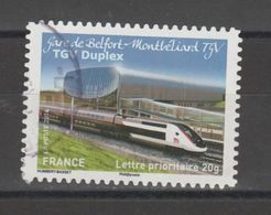 "FRANCE / 2014 / Y&T N° AA 1010 : ""Trains"" (TGV Duplex - Belfort) - Choisi - Cachet Rond - Luchtpost"