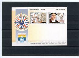 CHRISTOPHE COLOMB - ENTIER POSTAL NEUF DE MALTE 1992 - Christopher Columbus