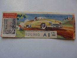 VIEUX PAPIERS - BILLET DE LOTERIE : 1/10 E De L'automobiliste 1953 - Billets De Loterie