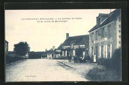 CPA Chapelle-Saint-Sepulcre, Le Bureau De Tabac Et La Route De Montargis - Montargis