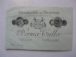 VIEUX PAPIERS - PUBLICITE : Enveloppe Illustrée : DISTILLERIE D'ABSINTHE - DORNIER TULLER - Advertising