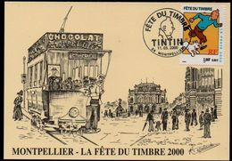 Carte Maximum - Fête Du Timbre - TINTIN - Obl. Montpellier - 2000-09