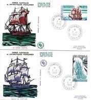 Navire Le Gros Ventre (!) Et La Fortune - FDC Kerguelen 1988 - Marine Navy Navale - FDC
