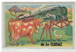 74 LA CLUSAZ #13264 ILS EMPORTENT LES VUES CARTE A SYSTEME VACHE LONGUE VUE - La Clusaz