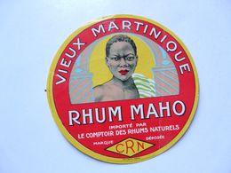VIEUX PAPIERS - PUBLICITE : RHUM MAHO - Advertising