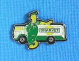 1 PIN'S //  ** TRANSPORTS FUEL / CHARVET ** - Carburants