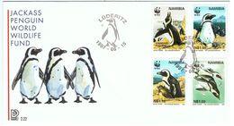 Namibie / 1997 / FDC / Jackass Penguin / Manchot Du Cap / WWF - Pinguini