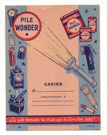 Protège-cahiers Pile Wonder La Pile Wonder Ne S'use Que Si L'on S'en Sert - Format : 24x18 Cm - Protège-cahiers