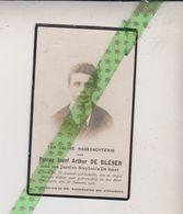 Petrus Jozef Arthur De Bleser-De Smet, Sint Amands-a/d-Schelde 1902, 1923. Onderwijzer Dendermonde - Décès