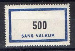 FRANCE ( FICTIF ) : Y&T  N°  F138  TIMBRE  NEUF  SANS  TRACE  DE  CHARNIERE , A  VOIR . B 20 - Phantom