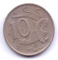 AUSTRALIA 1971: 10 Cents, KM 65 - Decimal Coinage (1966-...)