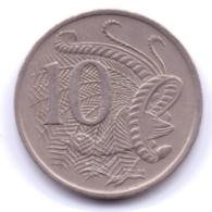 AUSTRALIA 1970: 10 Cents, KM 65 - Decimal Coinage (1966-...)