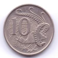 AUSTRALIA 1969: 10 Cents, KM 65 - Decimal Coinage (1966-...)